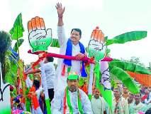 Maharashtra Election 2019 ; वडेट्टीवारांचे ब्रह्मपुरीत जोरदार शक्तीप्रदर्शन
