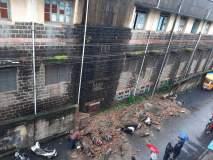 कराडात भिंत कोसळून दुचाकी गाड्यांचा चक्काचूर