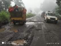 पातूर घाटात महामार्गाची चाळणी; खड्यांमुळे अपघातात वाढ