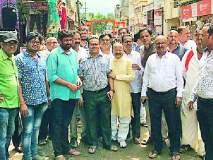 Maharashtra Election 2019 ; सदर बाजारात बच्चू कडू यांचे दमदार स्वागत