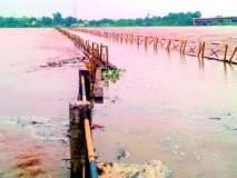 आंतरराज्यीय पुलावर चार फूट पाणी