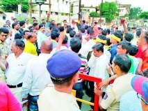रामनगरात पोलीस बंदोबस्तात रावणदहन