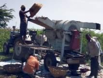 शेती उत्पादन काढण्यास दिली गती