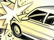 कारचा टायर फुटून झालेल्या अपघातात एक जण ठार