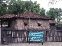 सेवाग्राममधील आश्रमातल्या कुटींना शाकारणारे शिंदोल्यांचे झाड झाले दुर्मिळ