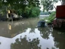 अंजानी धरणाचे दोन दरवाजे अचानक उघडल्याने नदी पात्रालगतच्या गांवामध्य झाले होते पाणीच पाणी