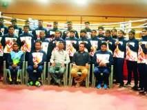 राष्ट्रीय शालेय स्पर्धेकरिता महाराष्ट्र संघ दिल्लीला रवाना