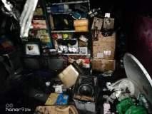 इलेक्ट्रिकल दुकानाला आग; लाखाचे नुकसान