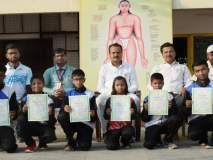 योगासन स्पर्धेत आत्मा मालिक शाळेचे यश