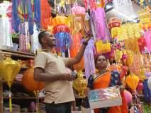 Diwali -कपडे, पणत्या, आकाशकंदील, दिवाळीसाठी बाजारपेठ सजली