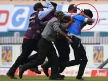 India Vs South Africa, 3rd Test : मैदानात घुसलेल्या चाहत्याला सुरक्षारक्षकांनी धु धु धुतला...