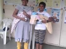 Maharashtra Election 2019 : तीन महिन्यांच्या जुळ्या बाळासह थेट मतदान केंद्रात