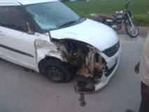 भरधाव कारने दुचाकीस उडविले; एक ठार, दोन जखमी