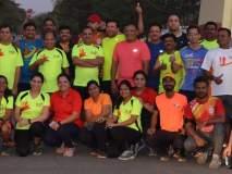 मुंबई मॅरेथॉनमधील सहभागी धावपटूंचा सत्कार