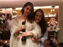 सारा अली खानने आई अमृतासोबत साजरा केला पहिला फिल्मफेअर जिंकल्याचा आनंद! पाहा फोटो!!