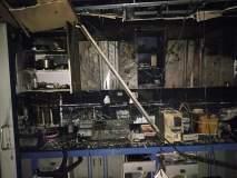 सोलापुरात हॉस्पिटलला आग; कर्मचाºयाने मारली खिडकीतून उडी