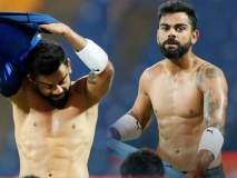 India vs West Indies : कोहलीने दाखवले 8 पॅक अॅब्स, तर रोहितने लपवलं सुटलेलं पोट