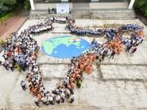 1100 तुळशी राेपांतून साकारला भारत