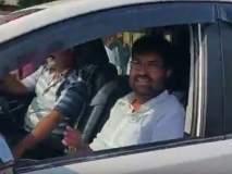 राज्यमंत्री अर्जुन खोतकर यांचा विना क्रमांकाच्या गाडीतून प्रवास