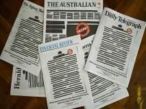 ऑस्ट्रेलियन वृत्तपत्रांचे 'ब्लॅक आऊट' मुखपृष्ठे; माध्यमांची सरकारविरोधी एकजूट