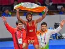 आशियाई सुवर्णपदक विजेत्या बजरंग पुनियाला मिळणार राजीव गांधी खेल रत्न पुरस्कार