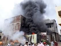 आखाडा बाळापुरात भंगार दुकान आगीत खाक