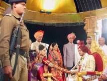 भाजपा आमदाराने धमकावल्यानंतर पोलीस संरक्षणात नवरदेवाच्या डोक्यावर पडल्या अक्षता