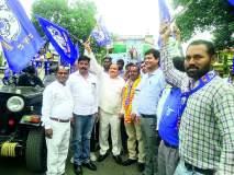 Maharashtra Assembly Election 2019 : विवेक हाडके यांचा रॅलीद्वारे जनसंपर्क