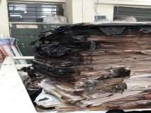जिल्हाधिकारी कार्यालयातील नगररचना विभागाच्या रेकॉर्ड रूमला आग