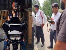 हास्यास्पद...Harley Davidson च्या चालकाने गाणे वाजविले म्हणून पोलिसांनी पावती फाडली