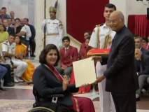 क्रीडा दिनानिमित्त राष्ट्रीय पुरस्कार खेळाडूंना प्रदान