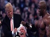 Video : जेव्हा डोनाल्ड ट्रंप यांनी WWEच्या 'रिंग'मध्ये आयोजकाची धुलाई करत केलं होतं त्याचं टक्कल