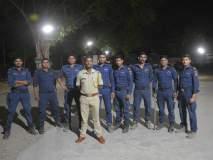 रात्रगस्तीत पोलीस सतर्क; दंगा नियंत्रण पथकाची रात्रभर गस्त
