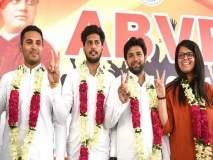 दिल्ली युनिव्हर्सिटीत एबीव्हीपीचा झेंडा, विद्यार्थी संघटनेची निवडणूक जिंकली