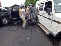 हंसराज अहीर यांच्या ताफ्यातील वाहनाचा अपघात; सीआरपीएफच्या जवानासह दोघांचा मृत्यू