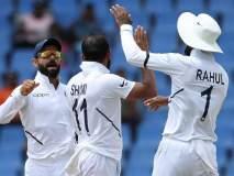 India vs West Indies, 1st Test : वेस्ट इंडिज 222 धावांत ऑल आऊट; भारताकडे 75 धावांची आघाडी