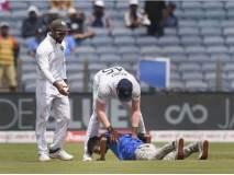 India vs South Africa, 2nd Test : एक चाहता मैदानात घुसला आणि रोहितच्या पायावर नतमस्तक झाला...