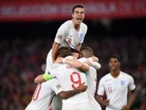UEFA Nations League : 30 वर्षांनंतर इंग्लंडने माजी विश्वविजेत्या स्पेनला पराभूत केले