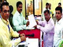 Maharashtra Election 2019 : खासदार श्रीकांत शिदें यांनी केले चव्हाण यांचे सारथ्य