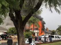 Plane Crash In California: घरात पार्टी सुरु असताना विमान कोसळले, पाच जणांचा मृत्यू