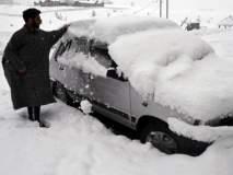 जम्मू काश्मीरमध्ये जोरदार बर्फवृष्टी; पर्यटकांसाठी आनंददायी वातावरण, पाहा फोटो