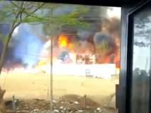 औरंगाबाद एमआयडीसीमध्ये लाकडाच्या गोदामाला आग