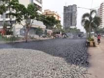 लोकांसाठी खड्डे बुजविले नाहीत, पण व्यावसायिक गरब्यासाठी भाईंदरमध्ये अंथरले 'कार्पेट'