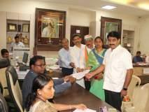 Maharashtra Vidhan Sabha 2019 : चंद्रकांत जाधव यांनी मिरवणुकीने भरला अर्ज