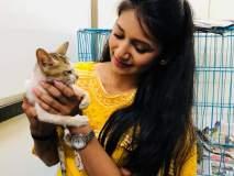 जुई गडकरी तिच्या सुंदर मांजरीसह आंतरराष्ट्रीय मांजर दिन साजरा केला