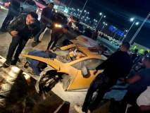 २० वर्षीय तरूण चालवतो होता Lamborghini कार, गंभीर अपघातात कारचे झाले तुकडे!