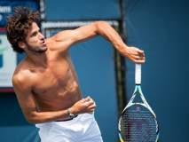 US Open : टेनिसपटूनं टी-शर्ट काढताच महिलेनं केलं असं काही; पाहा व्हायरल Video