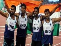 Asian Games 2018 : भारताची सुवर्णहॅट्ट्रिक हुकली, पुरुषांच्या रिलेमध्ये भारताला रौप्यपदक
