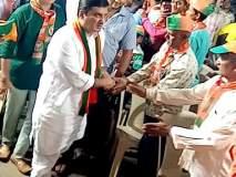 Maharashtra Election 2019 : धनंजय महाडिक यांच्या तोंडी कमळाऐवजी घड्याळ