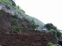 मुंबई-गोवा महामार्ग ठप्प, केंबुर्लीजवळ कोसळली दरड